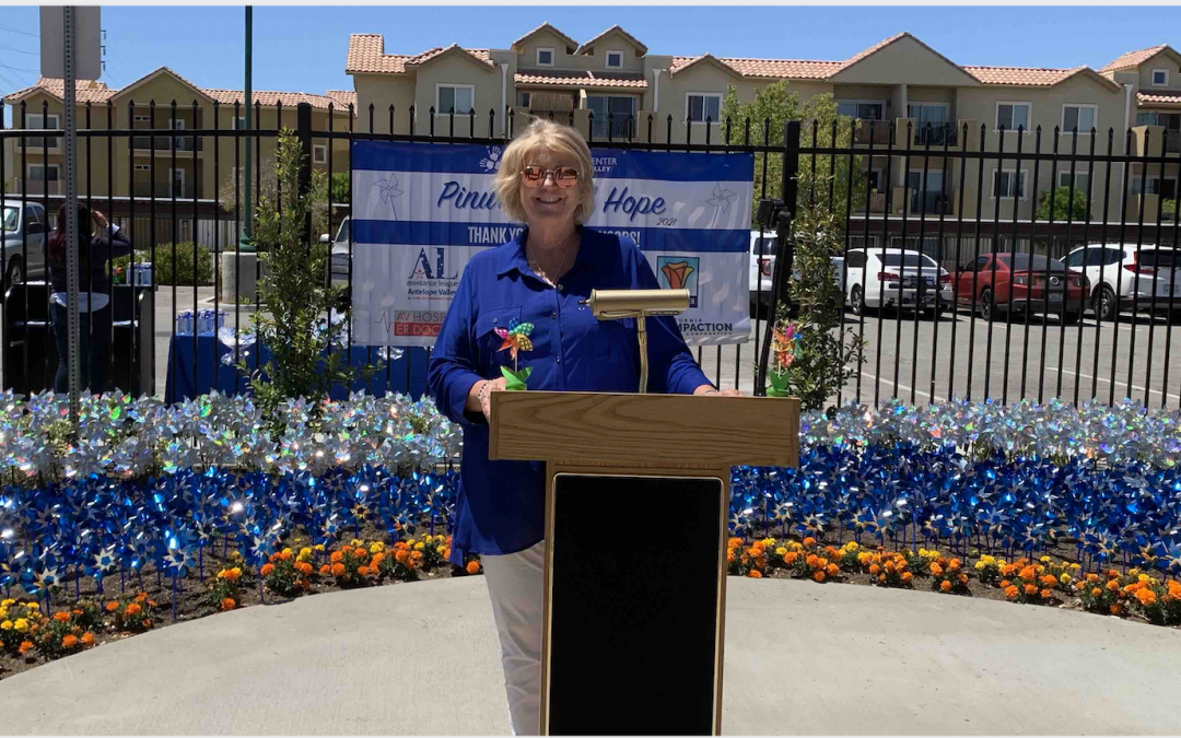 Children's Center Concludes Child Abuse Prevention Month  With Pinwheel Garden Planting